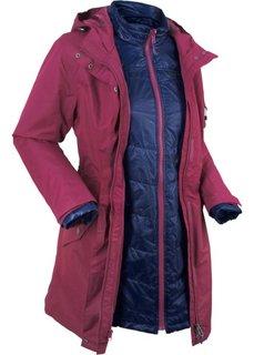 Функциональная куртка 3 в 1 (красная ягода) Bonprix