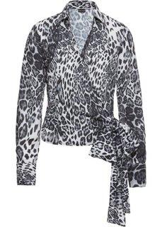 Блузка с эффектом запаха (с леопардовым рисунком) Bonprix