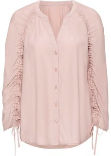 Блузка с драпировками на рукавах (винтажно-розовый) Bonprix