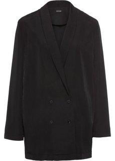 Блузка-жакет (черный) Bonprix