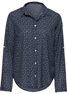 Блузка в горошек (черный/белый в горошек) Bonprix