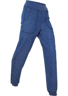 Трикотажные брюки с отворачивающимся поясом (ночная синь) Bonprix