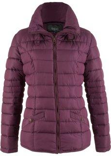 Стеганая куртка с воротником-стойкой (цвет бузины) Bonprix