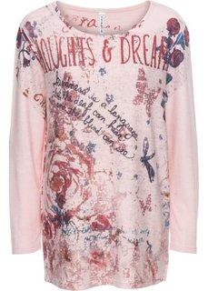 Вязаная футболка (розовый меланж с различными цветами) Bonprix