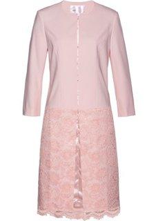Длинный пиджак с кружевом (нежно-розовый) Bonprix