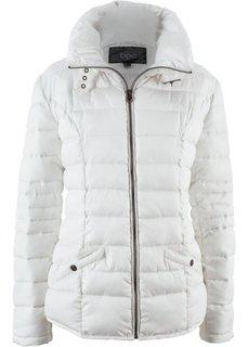Стеганая куртка с воротником-стойкой (кремовый) Bonprix