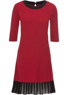 Платье с плиссировкой (красный) Bonprix