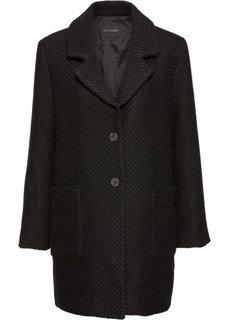 Клетчатое пальто из материала букле (черный) Bonprix