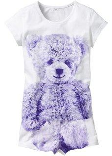 Пижама Медвежонок (2 изд.) (белый с рисунком) Bonprix