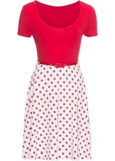 Трикотажное платье (красный/белый) Bonprix