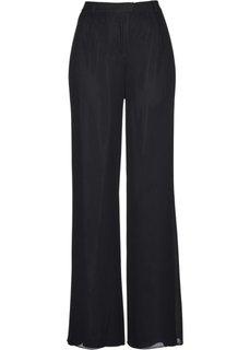 Шифоновые брюки (черный) Bonprix