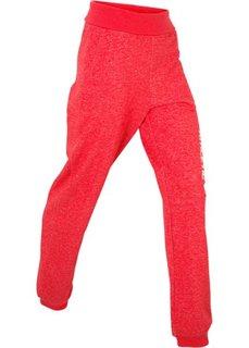 Трикотажные брюки с отворачивающимся поясом (клубничный) Bonprix