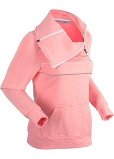 Свитшот на молнии (розовый неон) Bonprix