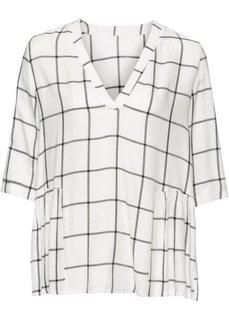 Блузка в клетку (кремовый/черный в клетку) Bonprix