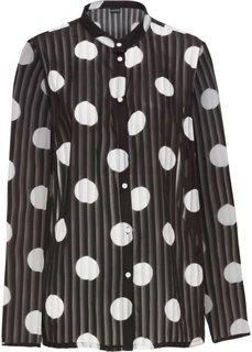 Блузка в горошек (черный/кремовый с рисунком) Bonprix
