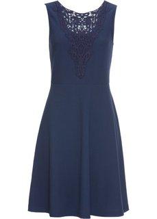 Платье с кружевной отделкой лифа (темно-синий) Bonprix