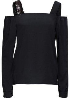 Блузка на бретелях (черный) Bonprix