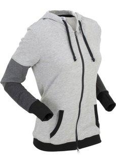 Куртка с длинным рукавом (светло-серый меланж) Bonprix