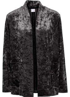 Бархатный блейзер (черный) Bonprix