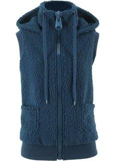 Плюшевый жилет (темно-синий) Bonprix