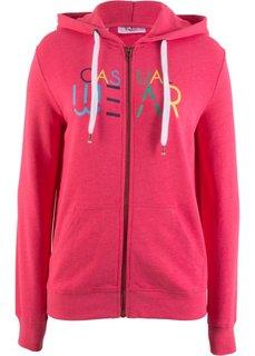 Куртка трикотажная с рисунком (ярко-розовый гибискус с рисунком) Bonprix