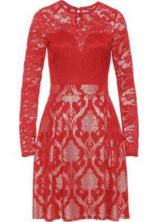 Платье с кружевной отделкой (малиновый) Bonprix