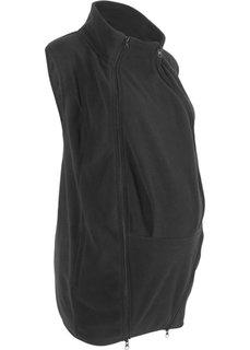 Жилет из флиса с карманом-вставкой для малыша (черный) Bonprix