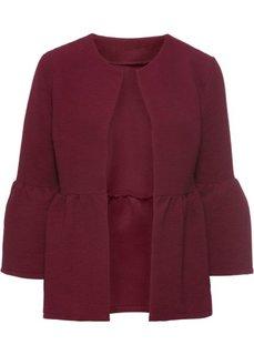 Куртка с воланами (темно-красный) Bonprix