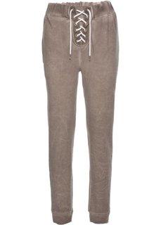 Трикотажные брюки (серо-коричневый) Bonprix