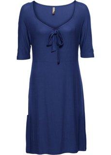 Платье из трикотажа (темно-синий) Bonprix