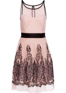 Коктейльное платье (цвет шампанского/черный) Bonprix