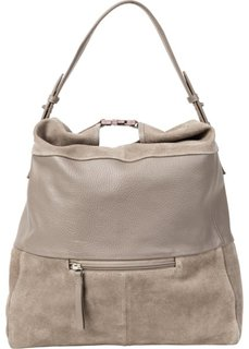 Кожаная сумка через плечо (натуральный камень) Bonprix