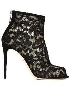 кружевные ботильоны Dolce & Gabbana