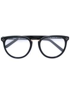 очки в овальной оправе Chloé Eyewear