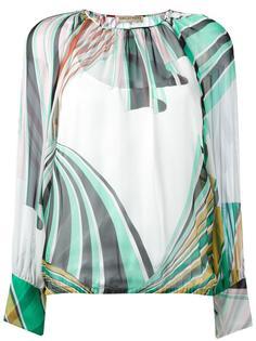 блузка с геометрическим принтом Emilio Pucci