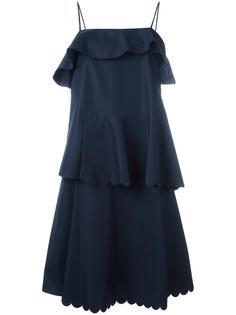 платье с оборками See By Chloé