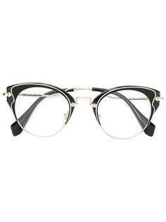 очки формы кошачий глаз Miu Miu Eyewear