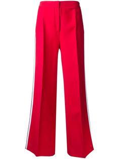 расклешенные брюки с полосками по бокам Fendi