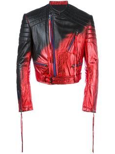 байкерская куртка с эффектом металлик Haider Ackermann