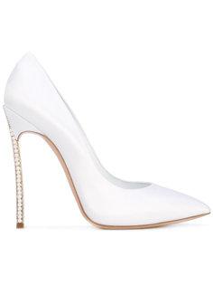 туфли с декором на каблуках Casadei