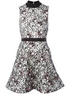 многослойное расклешенное платье с цветочным узором Self-Portrait
