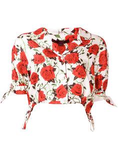 укороченная блузка с принтом роз Alexander Wang