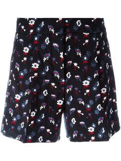 шорты с цветочной вышивкой Thom Browne
