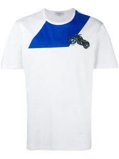футболка с вышивкой мотоцикла Salvatore Ferragamo