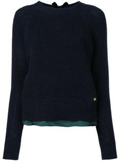 свитер с контрастным подолом Muveil