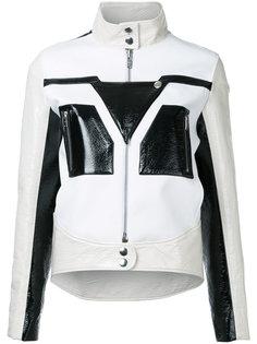 кожаная куртка с графическим узором Courrèges