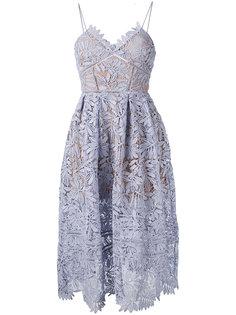 платье с вышивкой Self-Portrait