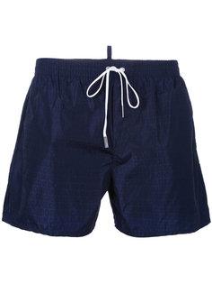 шорты для плавания с узором из логотипов Dsquared2