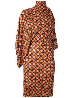 асимметричное платье с высокой горловиной Givenchy