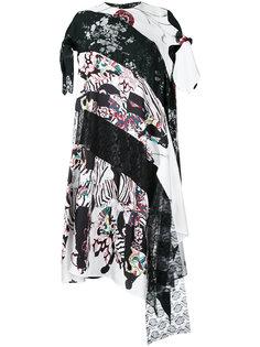асимметричное платье с контрастными панелями Antonio Marras